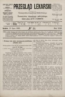 Przegląd Lekarski : organ Towarzystwa lekarskiego krakowskiego i Towarzystwa lekarskiego galicyjskiego. 1883, nr30