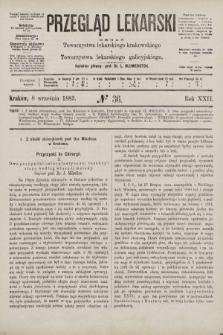 Przegląd Lekarski : organ Towarzystwa lekarskiego krakowskiego i Towarzystwa lekarskiego galicyjskiego. 1883, nr36