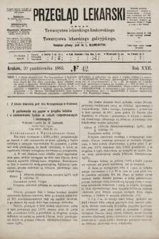 Przegląd Lekarski : organ Towarzystwa lekarskiego krakowskiego i Towarzystwa lekarskiego galicyjskiego. 1883, nr42