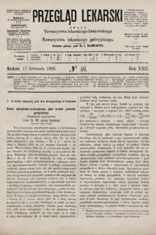 Przegląd Lekarski : organ Towarzystwa lekarskiego krakowskiego i Towarzystwa lekarskiego galicyjskiego. 1883, nr46