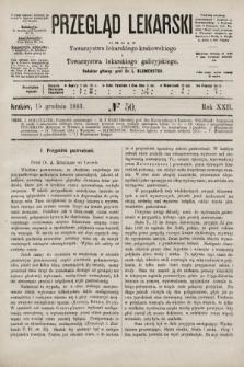Przegląd Lekarski : organ Towarzystwa lekarskiego krakowskiego i Towarzystwa lekarskiego galicyjskiego. 1883, nr50