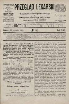 Przegląd Lekarski : organ Towarzystwa lekarskiego krakowskiego i Towarzystwa lekarskiego galicyjskiego. 1883, nr52