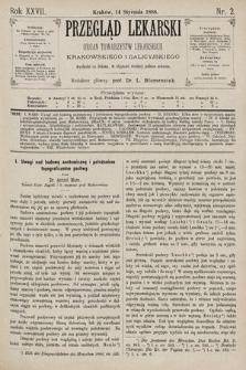 Przegląd Lekarski : Organ Towarzystw Lekarskich Krakowskiego i Galicyjskiego. 1888, nr2
