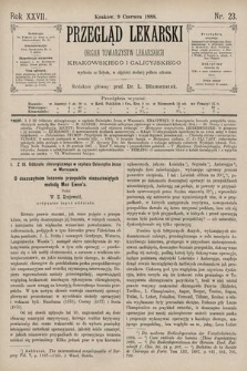 Przegląd Lekarski : Organ Towarzystw Lekarskich Krakowskiego i Galicyjskiego. 1888, nr23