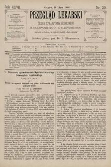 Przegląd Lekarski : Organ Towarzystw Lekarskich Krakowskiego i Galicyjskiego. 1888, nr30