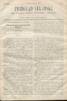 Przegląd Lekarski : organ Towarzystw lekarskich Krakowskiego i Galicyjskiego. 1905, nr1