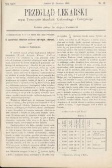 Przegląd Lekarski : organ Towarzystw lekarskich Krakowskiego i Galicyjskiego. 1905, nr17