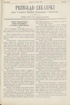 Przegląd Lekarski : organ Towarzystw lekarskich Krakowskiego i Galicyjskiego. 1905, nr21