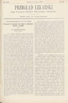 Przegląd Lekarski : organ Towarzystw lekarskich Krakowskiego i Galicyjskiego. 1905, nr24