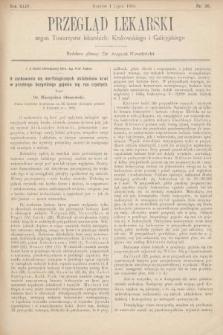 Przegląd Lekarski : organ Towarzystw lekarskich Krakowskiego i Galicyjskiego. 1905, nr26