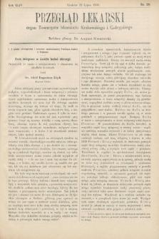 Przegląd Lekarski : organ Towarzystw lekarskich Krakowskiego i Galicyjskiego. 1905, nr29