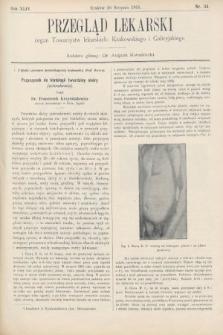 Przegląd Lekarski : organ Towarzystw lekarskich Krakowskiego i Galicyjskiego. 1905, nr34
