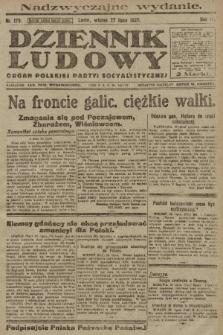 Dziennik Ludowy : organ Polskiej Partyi Socyalistycznej. 1920, nr179