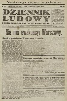 Dziennik Ludowy : organ Polskiej Partyi Socyalistycznej. 1920, nr193