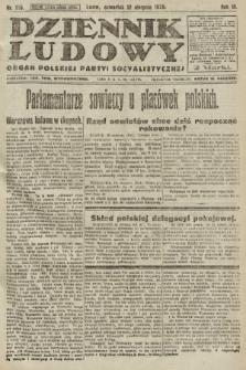 Dziennik Ludowy : organ Polskiej Partyi Socyalistycznej. 1920, nr195