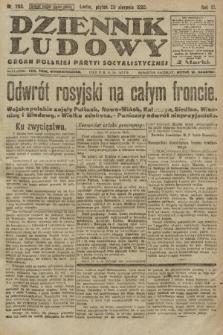 Dziennik Ludowy : organ Polskiej Partyi Socyalistycznej. 1920, nr203