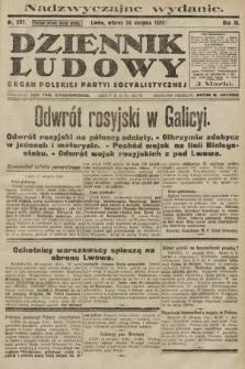 Dziennik Ludowy : organ Polskiej Partyi Socyalistycznej. 1920, nr207