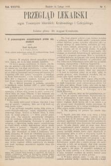 Przegląd Lekarski : organ Towarzystw lekarskich: Krakowskiego i Galicyjskiego. 1898, nr7
