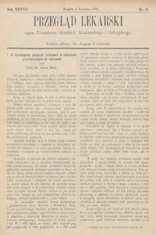 Przegląd Lekarski : organ Towarzystw lekarskich: Krakowskiego i Galicyjskiego. 1898, nr14