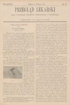 Przegląd Lekarski : organ Towarzystw lekarskich: Krakowskiego i Galicyjskiego. 1898, nr16