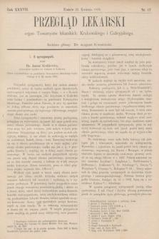 Przegląd Lekarski : organ Towarzystw lekarskich: Krakowskiego i Galicyjskiego. 1898, nr17
