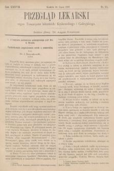 Przegląd Lekarski : organ Towarzystw lekarskich: Krakowskiego i Galicyjskiego. 1898, nr31