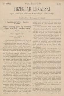 Przegląd Lekarski : organ Towarzystw lekarskich: Krakowskiego i Galicyjskiego. 1898, nr41