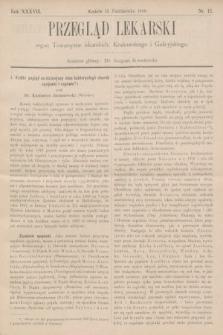 Przegląd Lekarski : organ Towarzystw lekarskich: Krakowskiego i Galicyjskiego. 1898, nr42