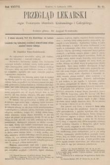 Przegląd Lekarski : organ Towarzystw lekarskich: Krakowskiego i Galicyjskiego. 1898, nr45