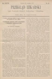 Przegląd Lekarski : organ Towarzystw lekarskich: Krakowskiego i Galicyjskiego. 1898, nr48