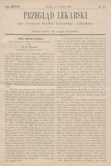 Przegląd Lekarski : organ Towarzystw lekarskich: Krakowskiego i Galicyjskiego. 1898, nr49
