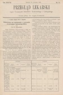 Przegląd Lekarski : organ Towarzystw lekarskich: Krakowskiego i Galicyjskiego. 1898, nr53