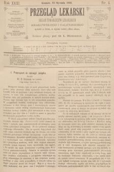 Przegląd Lekarski : organ Towarzystw Lekarskich Krakowskiego i Galicyjskiego. 1892, nr4