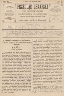 Przegląd Lekarski : organ Towarzystw Lekarskich Krakowskiego i Galicyjskiego. 1892, nr5