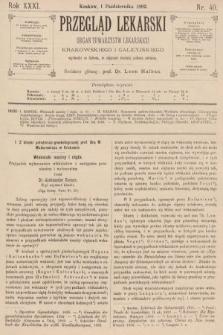 Przegląd Lekarski : organ Towarzystw Lekarskich Krakowskiego i Galicyjskiego. 1892, nr40