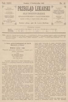 Przegląd Lekarski : organ Towarzystw Lekarskich Krakowskiego i Galicyjskiego. 1892, nr41