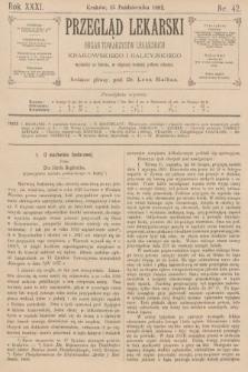 Przegląd Lekarski : organ Towarzystw Lekarskich Krakowskiego i Galicyjskiego. 1892, nr42