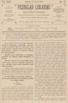 Przegląd Lekarski : organ Towarzystw Lekarskich Krakowskiego i Galicyjskiego. 1892, nr51