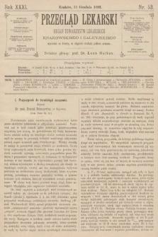 Przegląd Lekarski : organ Towarzystw Lekarskich Krakowskiego i Galicyjskiego. 1892, nr53