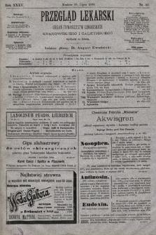 Przegląd Lekarski : organ Towarzystw Lekarskich: Krakowskiego i Galicyjskiego. 1896, nr30