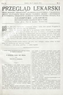 Przegląd Lekarski oraz Czasopismo Lekarskie. 1912, nr1