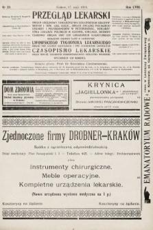 Przegląd Lekarski oraz Czasopismo Lekarskie. 1919, nr20