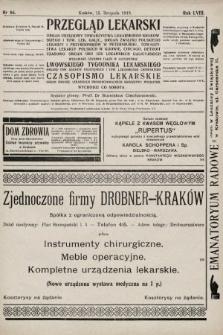 Przegląd Lekarski oraz Czasopismo Lekarskie. 1919, nr46