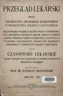 Przegląd Lekarski oraz Czasopismo Lekarskie. 1919 [całość]