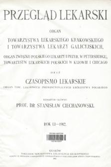 Przegląd Lekarski oraz Czasopismo Lekarskie. 1912 [całość]