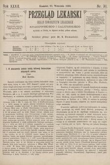 Przegląd Lekarski : organ Towarzystw Lekarskich Krakowskiego i Galicyjskiego. 1893, nr38