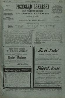 Przegląd Lekarski : organ Towarzystw Lekarskich Krakowskiego i Galicyjskiego. 1899, nr5