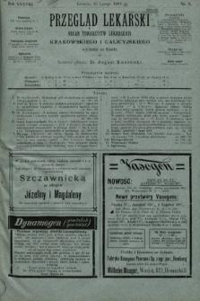 Przegląd Lekarski : organ Towarzystw Lekarskich Krakowskiego i Galicyjskiego. 1899, nr8