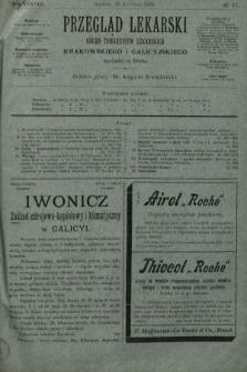Przegląd Lekarski : organ Towarzystw Lekarskich Krakowskiego i Galicyjskiego. 1899, nr17