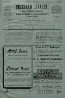 Przegląd Lekarski : organ Towarzystw Lekarskich Krakowskiego i Galicyjskiego. 1899, nr21